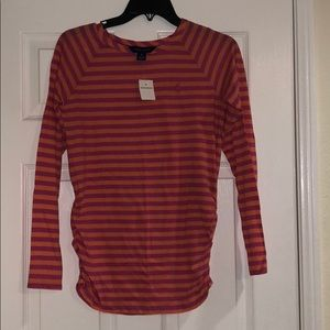 Ralph Lauren Pink/Orange stripe long sleeve Tshirt